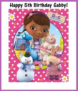 "12 Doc McStuffins 3"" x 5"" Stickers Goody Loot Favor Treat Gift Bag Labels Party"