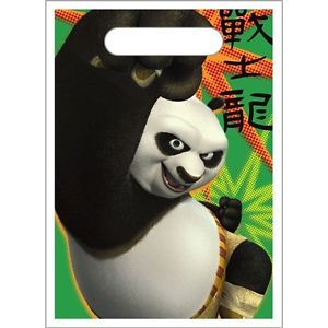 Kung Fu Panda Party Supplies Loot Treat Bag Sacks 8 Each