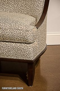 Drexel Heritage Furnishings Maya Leopard Print Armless Accent Chair