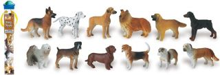 Dogs Toob 12 Different Breeds Free SHIP w $25 Safari