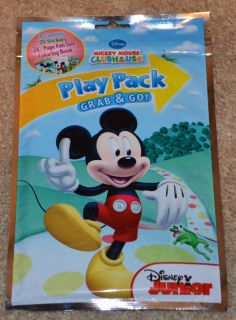 Disney Grab Go Play Pack Crayons Stickers Coloring Book Mickey Mouse Clubhouse