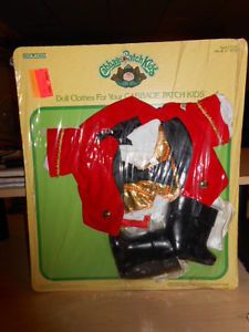 1986 Vintage Cabbage Patch Kids Doll Outfit Clothing Set 2 Ringmaster Red