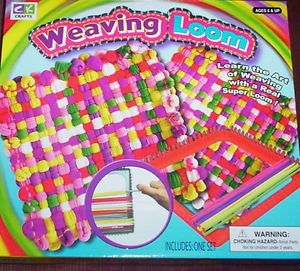Weaving Loom Kids Craft Kit Make Your Own Pot Holders Gifts Modern Toy