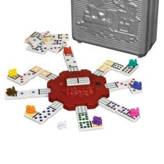 Cardinal's Mexican Train Domino Game w Metal Carrying Case TOOT TOOT Hub