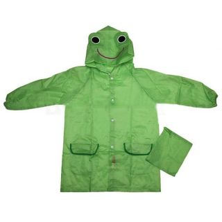 Children Kid Boy Girl Cute Funny Cartoon Hoodie Outwear Cover Rain Coat Raincoat