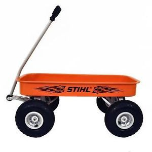 Genuine Stihl Chainsaw Big Orange Wagon Air Filled Tires and It Is Orange