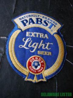 PBR LG Pabst Extra Light Company Vtg Mfg Beer Original Jacket Shoulder Patch