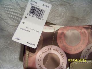 Coach Soho Snaphead Satin Flap Crossbody Bag Purse Tote Multi New $168 Save