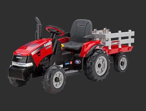 Peg Perego Case IH Magnum Tractor Trailer Kids Ride on Toy 12 Volt New in Box