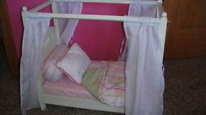 Pottery Barn Kids Madeline Doll Bed and Bedding