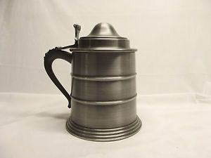 Vtg Pewter Tone Stein Shaped Ice Bucket Made in Italy Seymour Mann Imports 1967