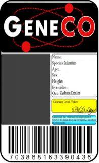 Geneco Card ID Badge Repo Special Agent Black Market
