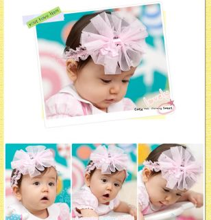 Baby Toddler Kids Girls Princess Hairband Head Hair Bow Accessories 0 3 2 Years