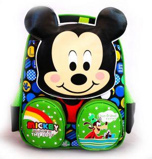 Disney Mickey Mouse Plush Preschool School Backpack Shoulder Boys Kids Toy Bag