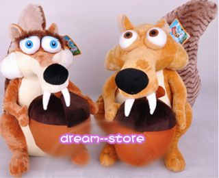 "★ 7'' 10"" 13"" ★ Scrat Scratte ★ Movie The Ice Age 4 Soft Toy Plush Doll ★"