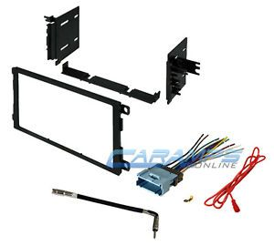 New Car Stereo Radio Double 2 DIN Dash Installation Trim Kit w Wiring Harness