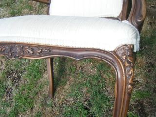 Vintage Classic Ethan Allen Louis French Regency Bergere Arm Side Chairs Pair