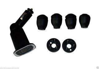 LED TPMS Tire Pressure Monitoring System Car Low Pressure Alarm w 4pcs Sensor