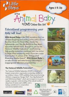 Wild Animal Baby 4 DVD Deluxe Box Gift Set for Kids Children Christmas Holiday 781735603550