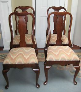 Set 4 Pennsylvania House Queen Anne Dining Chairs