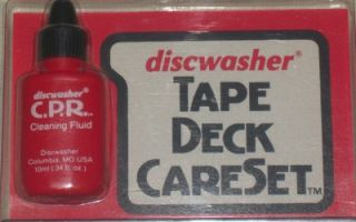Discwasher Tape Deck Careset Head Cleaner Pinch Roller Cleaner VGC Hardly Used