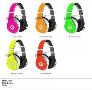 Yellow Neon Skin Kit for Monster Beats by Dr Dre Studio Headphones