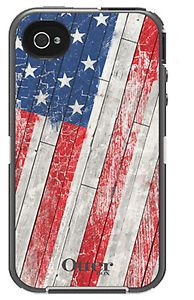New Flag Otter Box Defender Series Holster Clip Case Cover for iPhone 4 4S