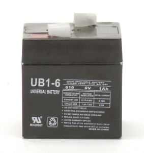 UB610 UB1 6 6V 1AH Home Alarm Security System Rechargeable Deep Cycle Battery