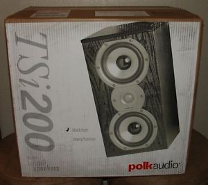 New Polk Audio TSI200 Home Theater Main Bookshelf Speakers Black Pair