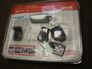New XACT Visor Sirius Satellite Receiver and Remote with Car and Home Kits