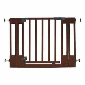 Top of Stairs Wood Walk thru Baby Toddler Safety Gate Kids Safety Door Home