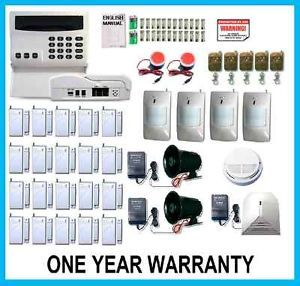 Wireless Home Security System House Alarm Auto Dialer DV 4 Sirens Very Loud New