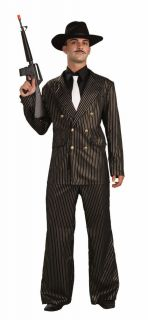1920's Men's Gangster Gold Adult Roaring 20's Costume Size Standard