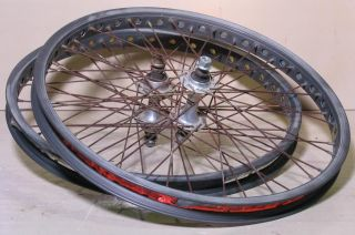 "Old School BMX 20x1 75"" Wheels Mongoose Pro Class III Rims SR SEALED Mech Hubs"