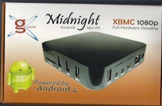 G Box Midnight Google IPTV Android TV HTPC Home Theater Mini PC Set Top Box XBMC