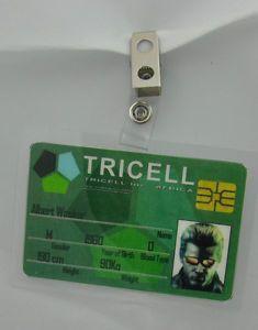 Resident Evil ID Badge Tricell Albert Wesker