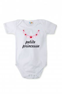 Sara Kety Short Sleeved Body with Print Little Princess in Different Languages