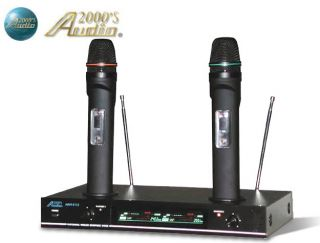 Brand New 2013 Audio 2000's AWM 6112 Dual Channel VHF Wireless Mic System