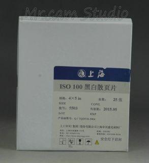 Shanghai 4x5 Film ASA 100 21 25 Sheets Large Format Pinhole