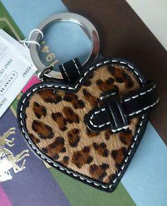 Coach Animal Leopard Ocelot Print Heart Picture Family Frame Keychain Keyfob