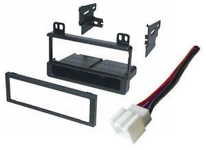 Single DIN Aftermarket Stereo Radio Installation Dash Kit Wire Harness Plug