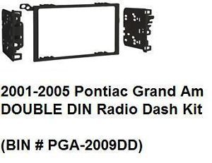2001 2002 2003 2004 2005 Pontiac Grand Am Double DIN Radio Dash Install Kit