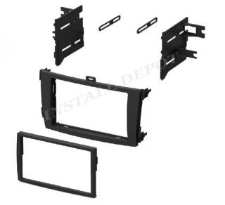 2009 2012 Toyota Corolla Double DIN Dash Kit Car Radio Stereo Install Mount DVD