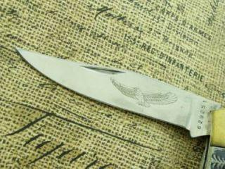MIB VINTAGE GOLDEN EAGLE LOCKBACK HUNTER POCKET KNIFE HUNTING KNIVES TOOLS