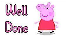 195 Small Labels Reward Stickers Teachers Well DONE Peppa Pig