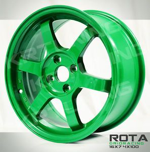 Rota Grid Racing Takata Green JDM 16x7 4x100 40OFFSET Free JDM Lanyards