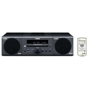 Yamaha Mini System with CD Player Radio and iPod Dock Dark Gray MCR 040DG