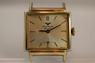 Vintage Wittnauer Geneve Running 17 Jewel TV Case Mens Wristwatch