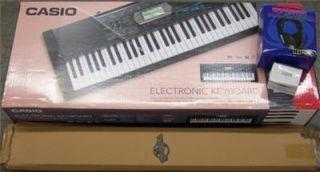 Casio CTK 2100 61 Key Electronic Keyboard Premium Package w Accessories New
