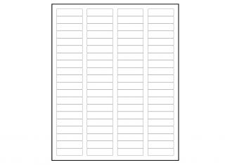 Return address labels x 60 labels per sheet for Avery templates 5167 blank